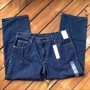NWT Calvin Klein plus size jeans dark blue 38